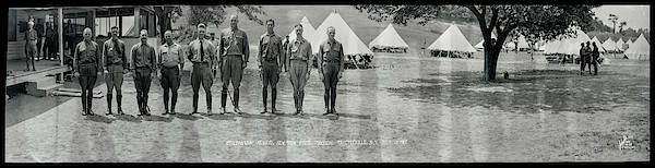 Campsite Wall Art - Photograph - Officers At Camp Newayo, New York State by Fred Schutz Collection