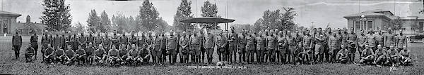 Fair Ground Photograph - Officers Of The Mobilization Camp by Fred Schutz Collection