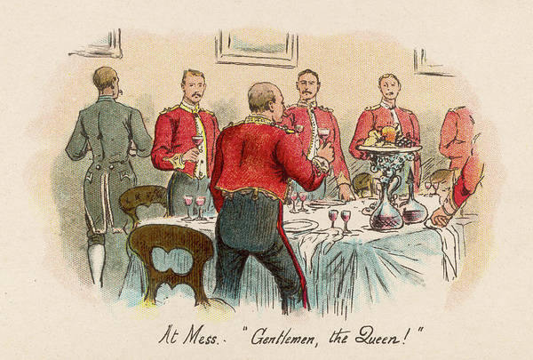 Mess Drawing - Officers Stand To Drink A  Loyal Toast by Mary Evans Picture Library
