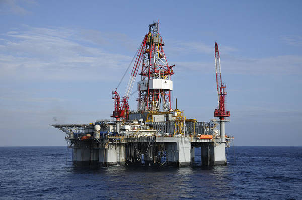 Photograph - Offshore Drilling Rig by Bradford Martin