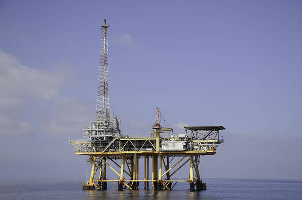 Photograph - Offshore Gas Platform by Bradford Martin