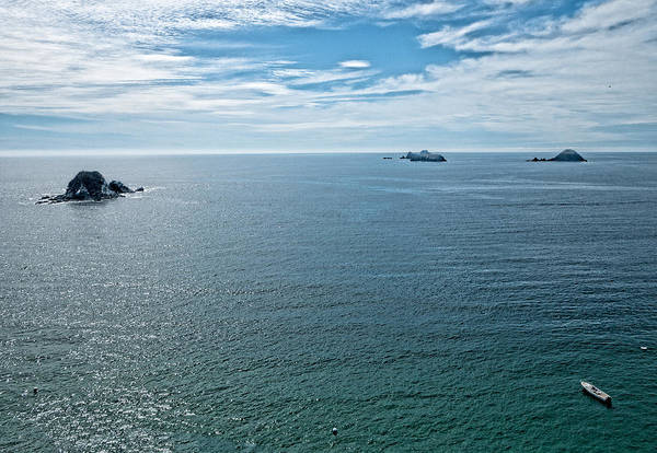 Photograph - Offshore Islands. Aerial View.  Playa El Palmar. Ixtapa. Mexico by Rob Huntley
