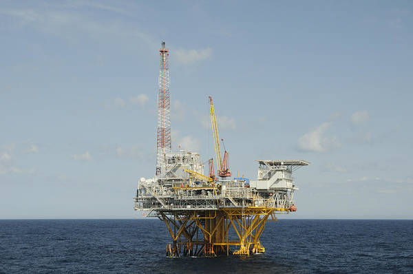 Photograph - Offshore Natural Gas Platform by Bradford Martin