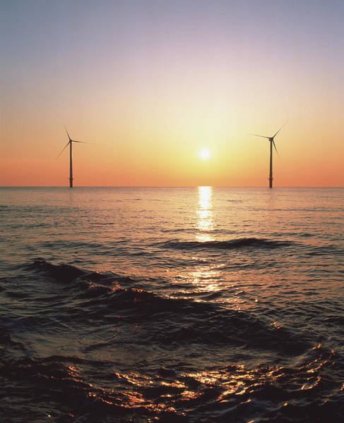 Wind Farm Photograph - Offshore Wind Farm by Martin Bond/science Photo Library