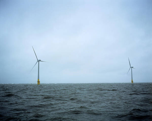 Yarmouth Photograph - Offshore Wind Turbines by Adam Hart-davis/science Photo Library