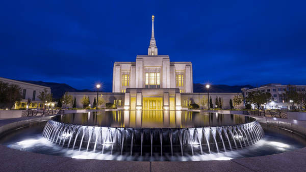 Wall Art - Photograph - Ogden Temple II by Chad Dutson
