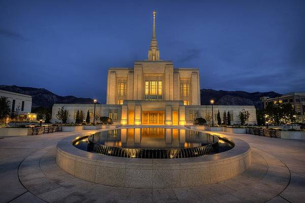 Temples Wall Art - Photograph - Ogden Temple Reflections by Ryan Smith