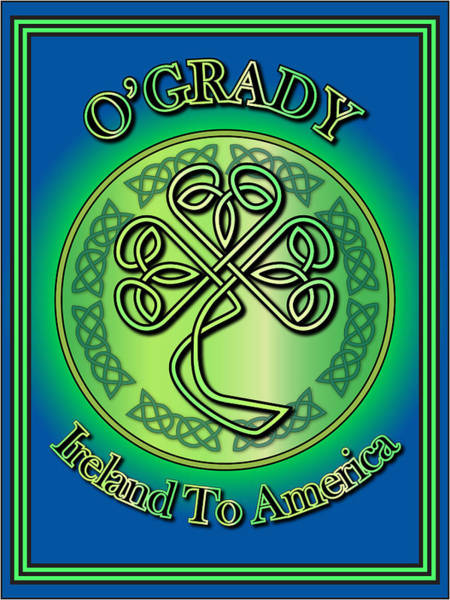 Wall Art - Digital Art - O'grady Ireland To America by Ireland Calling