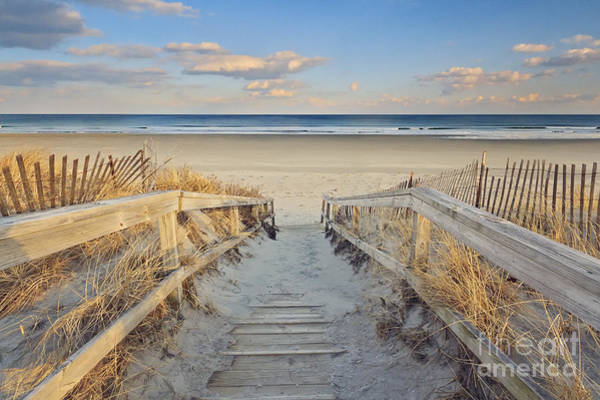 Maine Wall Art - Photograph - Ogunquit Beach Boardwalk by Katherine Gendreau