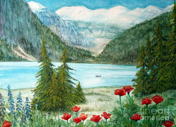 Alpine Meadow Painting - Oh Canada by Joey Nash