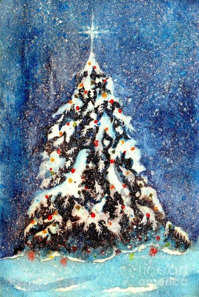 Star Of Bethlehem Painting - Oh Christmas Tree by Janine Riley