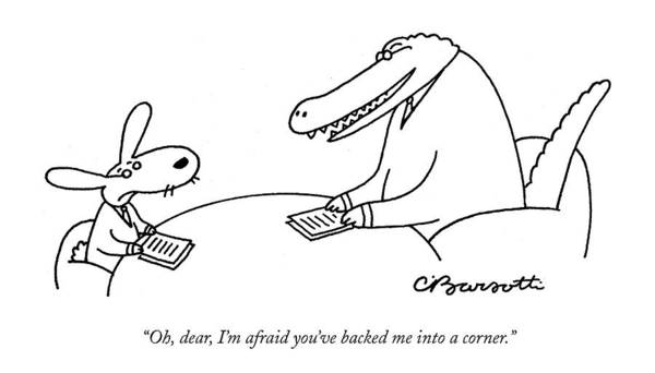 Oh Drawing - Oh, Dear, I'm Afraid You've Backed by Charles Barsotti