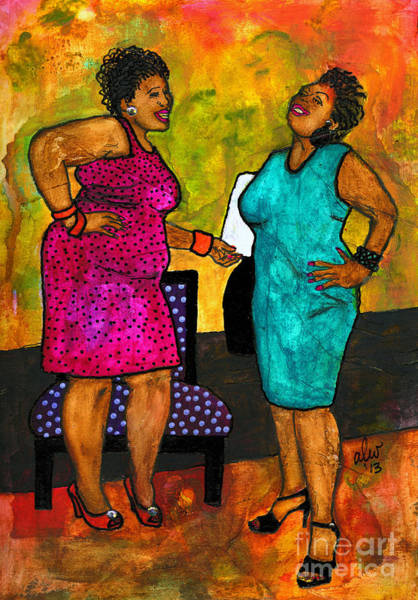 Wall Art - Painting - Oh Girl Don't Make Me Laugh by Angela L Walker