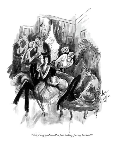 1930 Drawing - Oh, I Beg Pardon - I'm Just Looking by Barbara Shermund
