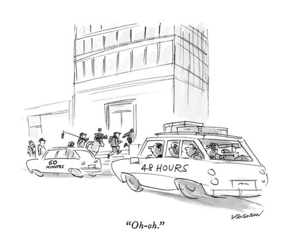 1988 Drawing - Oh-oh by James Stevenson