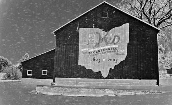 Photograph - Ohio Barn In Winter by Dan Sproul