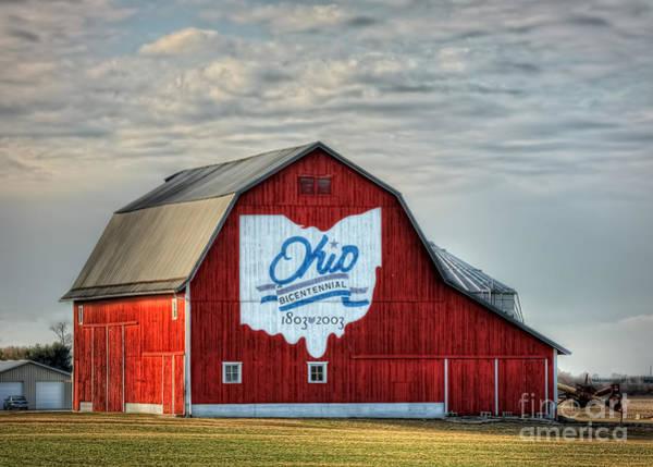 Commemorative Wall Art - Photograph - Ohio Bicentennial Barn -van Wert County by Pamela Baker