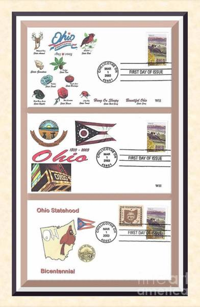 Ohio Bicentennial First Day Covers Art Print