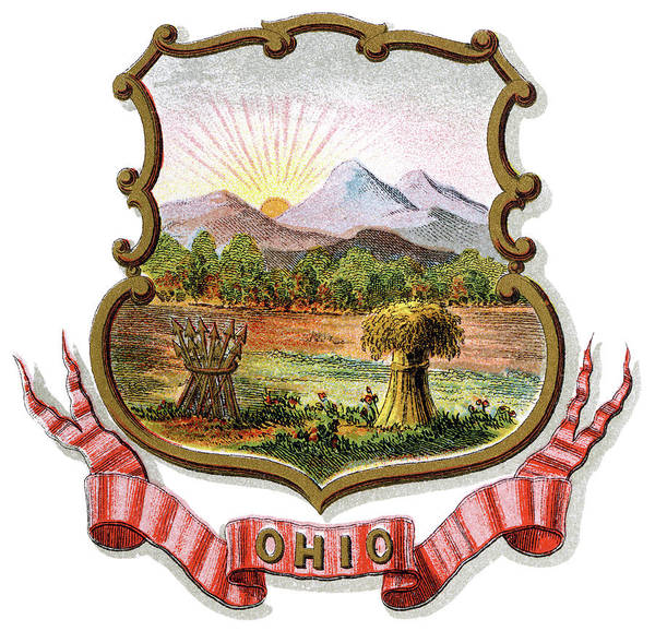 Wall Art - Painting - Ohio Coat Of Arms by Granger