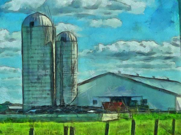 2x4 Wall Art - Painting - Ohio Farm by Dan Sproul