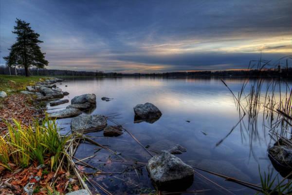 Photograph - Ohio Lake Sunset by David Dufresne