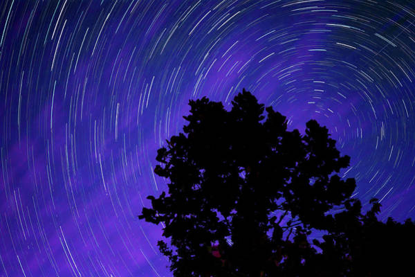 Photograph - Ohio Night Sky - Star Trails by Gregory Ballos