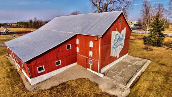 Photograph - Ohio Red Barn by Dan Sproul