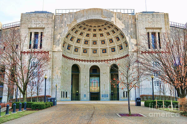 Columbus Wall Art - Photograph - Ohio Stadium Main Entrance 1672 by Jack Schultz
