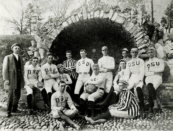 Columbus Wall Art - Photograph - Ohio State Football Circa 1890 by Jon Neidert