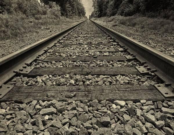 Photograph - Ohio Train Tracks by Dan Sproul