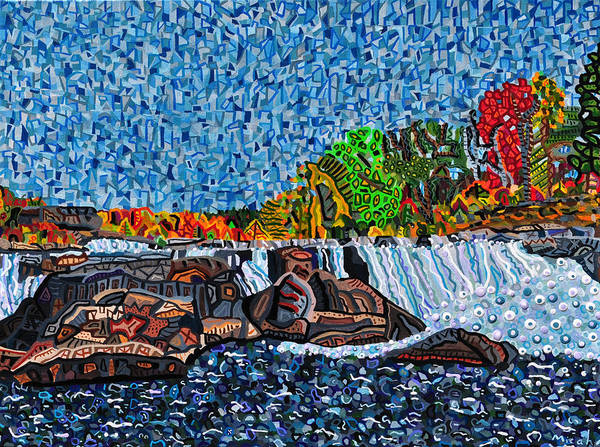Wall Art - Painting - Ohiopyle Falls by Micah Mullen