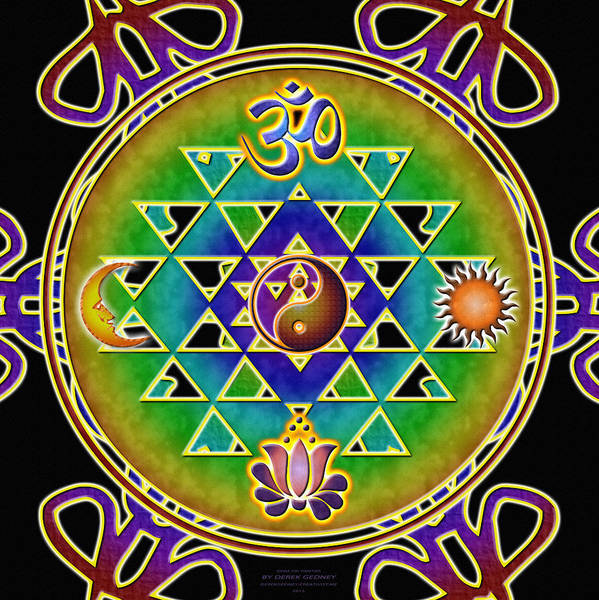 Digital Art - Ohm Sri Yantra by Derek Gedney