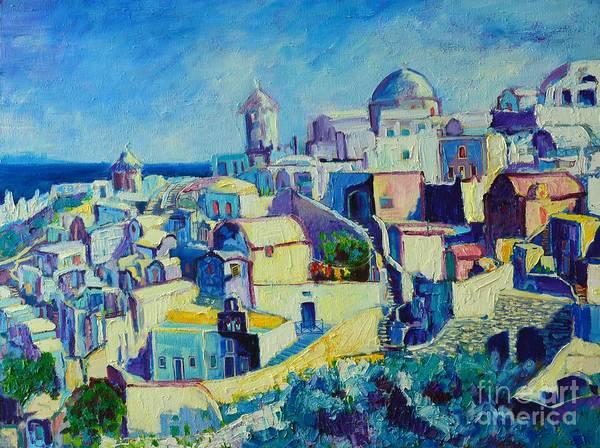 Greek House Painting - OIA by Ana Maria Edulescu