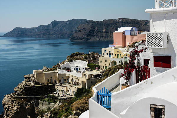 Village Gate Photograph - Oia, Santorini, Greece by Jolly Sienda