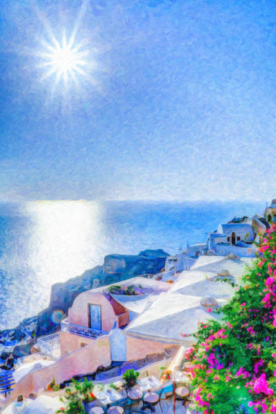 Painting - Oia Santorini Grk4178 by Dean Wittle