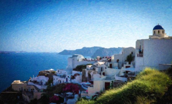 Painting - Oia Santorini Grk4332 by Dean Wittle
