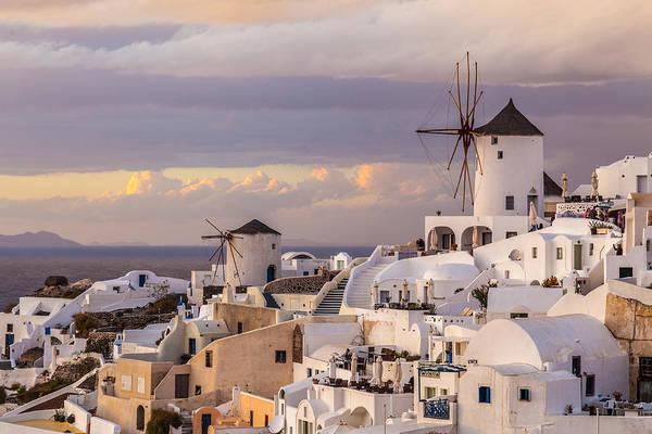 Photograph - Oia Windmill by Brian Grzelewski