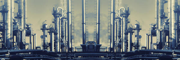 Wall Art - Photograph - Oil And Gas Industry Panoramic by Christian Lagereek