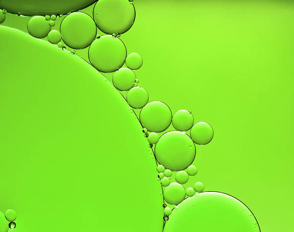 Wall Art - Photograph - Oil And Water Abstract Background by Assalve