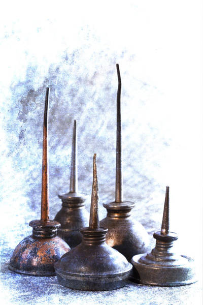 Repair Photograph - Oil Cans by Carol Leigh