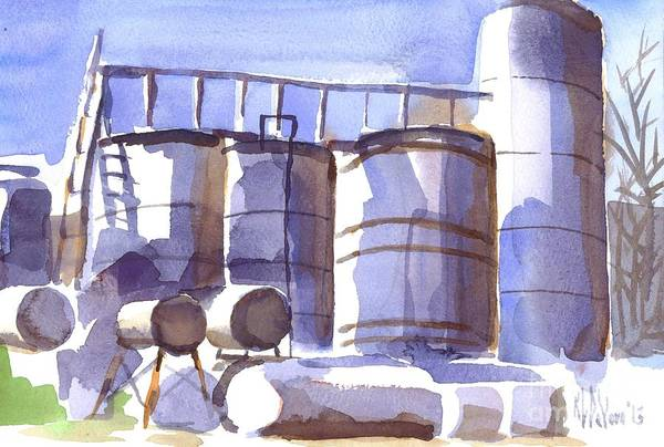 Painting - Oil Depot In April by Kip DeVore