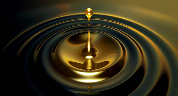 Liquid Digital Art - Oil Droplet by Allan Swart