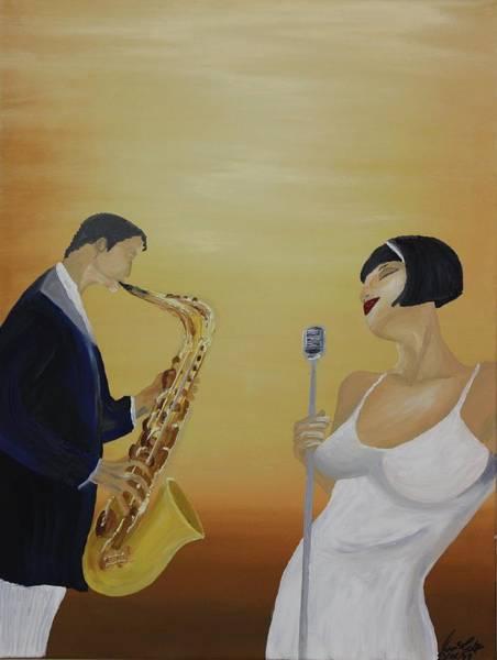 Sax Painting - Oil Msc 001  by Mario Sergio Calzi