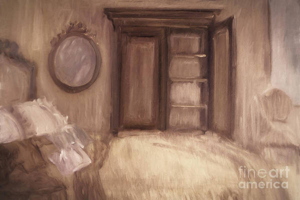 Wall Art - Photograph - Oil Painting Of A Bedroom/ Digitally Painting by Sandra Cunningham