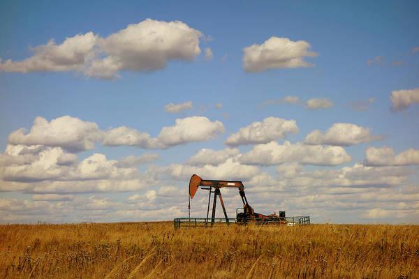 Oil Pump Photograph - Oil Pump Jack On The Prairie by Ann Powell