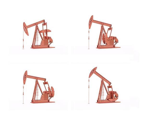 Oilfield Wall Art - Photograph - Oil Pumps by Andrzej Wojcicki/science Photo Library