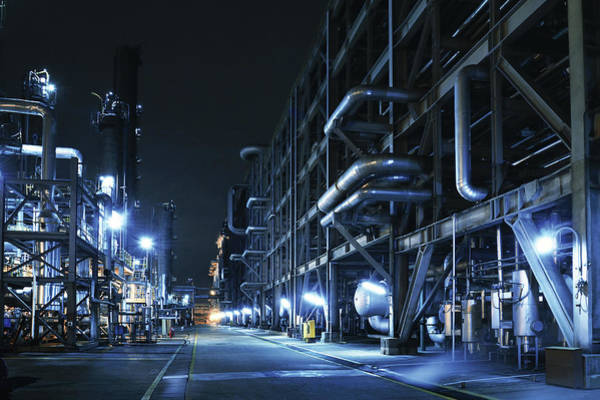 Oil Lamp Photograph - Oil Refinery, Chemical & Petrochemical by Zorazhuang