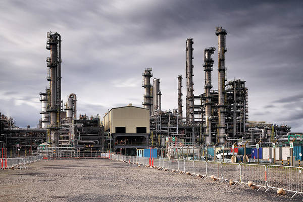 Photograph - Oil Refinery by Grant Glendinning