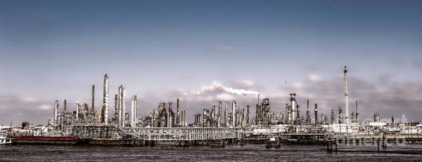 Petroleum Wall Art - Photograph - Oil Refinery by Olivier Le Queinec