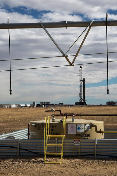 Drill Photograph - Oil Rig And Irrigation Equipment by Jim West
